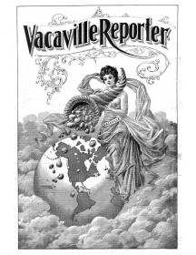 1903 Vacaville Reporter - Cover