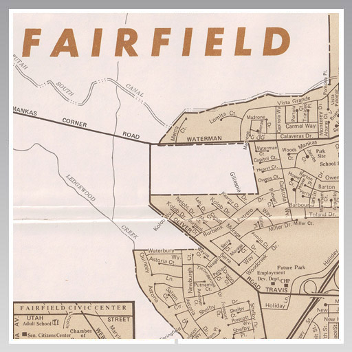 1979 Fairfield-Suisun Map