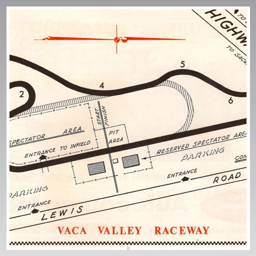 1964 Vaca Valley Raceway Program